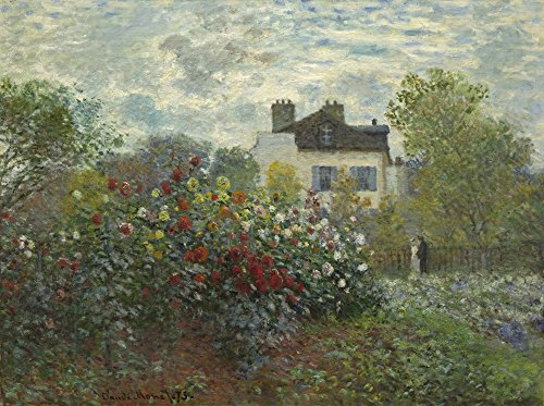 The ArtistS Garden In Argenteuil By Claude Monet 1873 French Impressionist Painting Oil On Canvas This PaintingS Alternate Title Is A Corner Of The Garden With Dahlias (Bsloc20165105) Poster Print (36