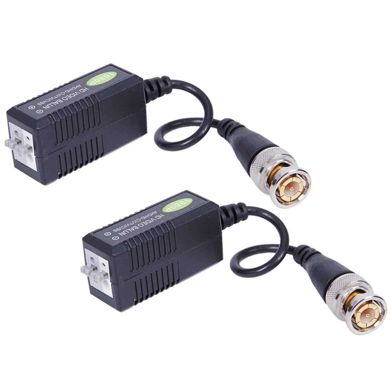 Nrpfell Video Passive Balun BNC Transceiver for 1080P 3MP 4MP 5MP HD-TVI/CVI/AHD/Analog