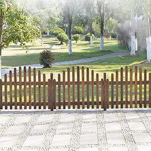 YINUO Cercos Cerca del jardín del anuncio de la pantalla Protección de Plantas Madera Jardín poste de la cerca separados por un espacio artesanal resistente a la corrosión a prueba de humedad