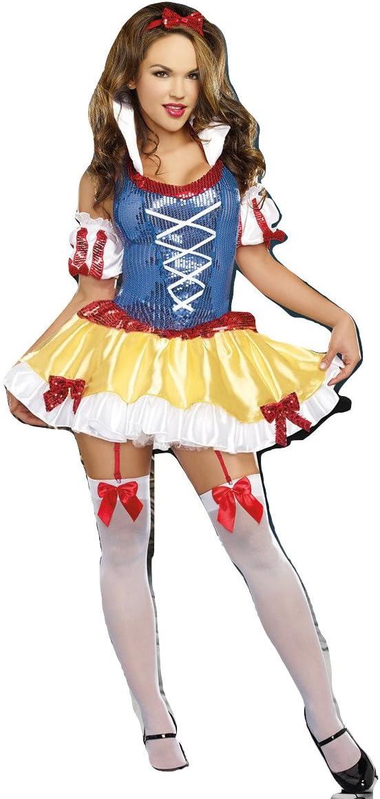 Disney, disfraz de princesa blanca, elegante vestido para adultos ...