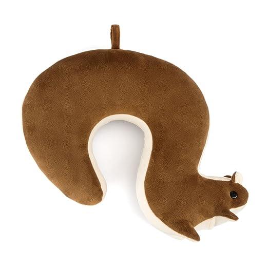 Balvi Cojín de Viaje Squirrel Color marrón con Forma de ...