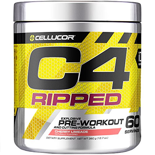 Cellucor C4 Ripped Pre Workout Powder + Thermogenic Fat Burner, Fat Burners for Men & Women, Weight Loss & Energy, Cherry Limeade, 60 Servings