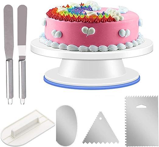 Terrific Kigos Cake Turntable Cake Rotating Plate Stand 11 Cake Funny Birthday Cards Online Ioscodamsfinfo