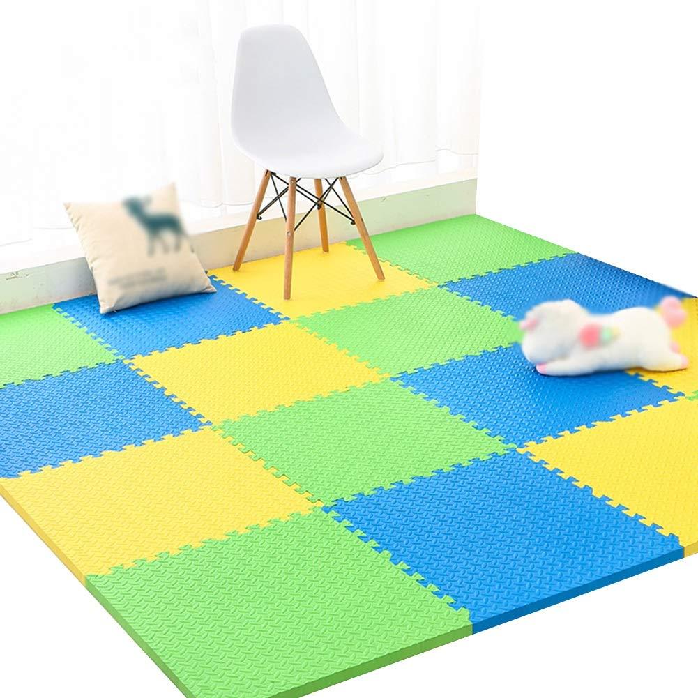 K YAYADU-tapis puzzle en mousse Coupe Libre Couture Créative Prougeection Contre Le Froid Faible Bruit Conception épaissie MultiCouleure Parc D'attractions (Couleur   B, Taille   8PCS) 9PCS