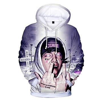 LBZD Moda 3D Sudaderas Impresas Lil Rapper Xan Xanarchy Sudadera Pullover gráfico Sudaderas con Capucha con Grandes Bolsillos,4,XL: Amazon.es: Deportes y ...