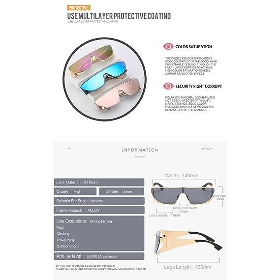 Gafas De Sol Mujer Europa Y América Moda Siamés Gafas Color ...
