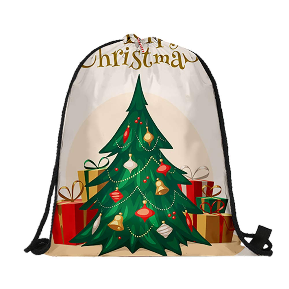 Christmas Tree 6PACK Opromo 6 Pack Halloween Bag Pumpkin Pattern Print Goodie Bags for Trick or Treat