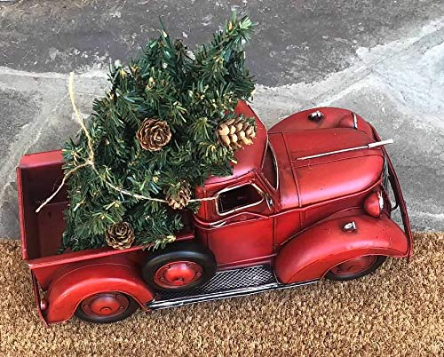 Amazon Com Lil Red Pickup Metal Truck Christmas Tree Tabletop