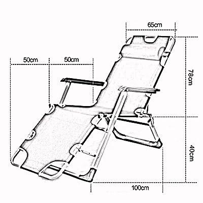 NA Silla de la cama del dormitorio, silla de estudiante Lazy, dormitorio de la universidad Artefacto de la sala de estar plegable Balcón Siesta Hogar acogedor silla de respaldo informal simple,gris: Deportes y aire libre