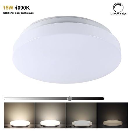 progreen 15w led flush mount ceiling lights 30cm dimmable led rh amazon co uk Three Light Bathroom Ceiling Mounted Lights Bathroom Ceiling Light Fixtures