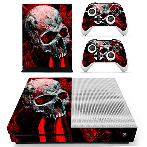 Chickwin Xbox One S Skin Vinyl Decal Full Body Cover Sticker For Microsoft Xbox One S Console and 2 Controller Skins (Skull - Uk Manchester Outlet