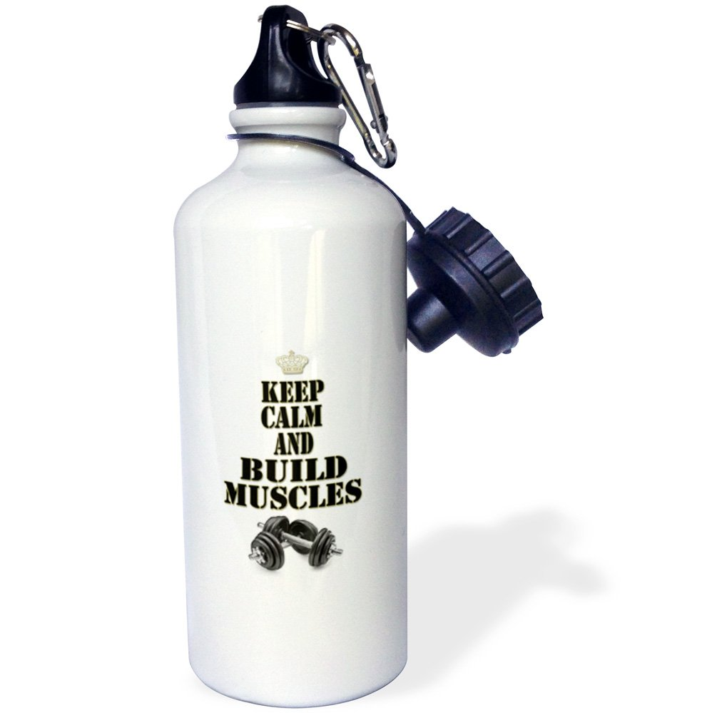 Sports Water Bottle 3dRose wb/_220655/_1The only bad workout is the one you didnt do White 21 oz