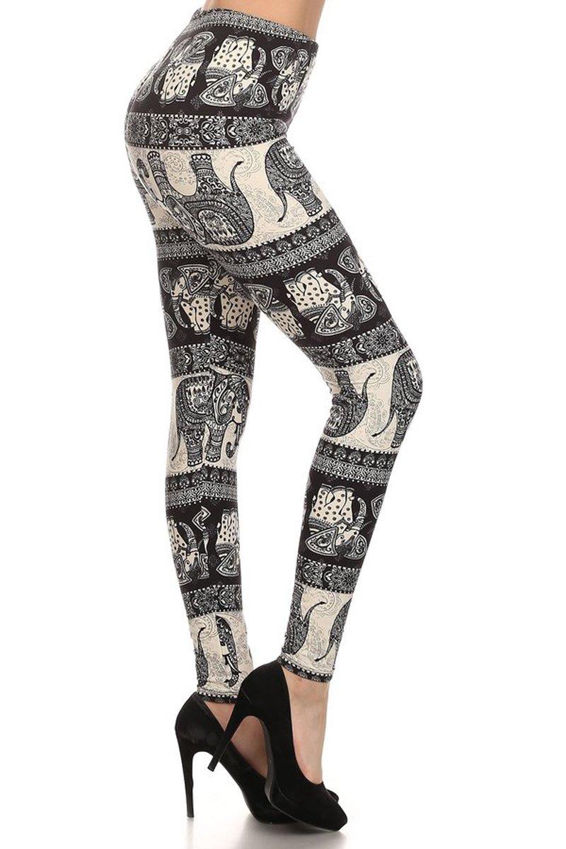 Print Leggings Oriental Elephant (SLE-1552)