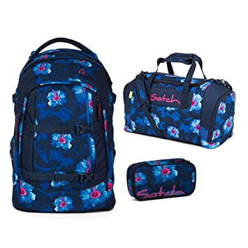 43e22af07d9e5 Satch Schulrucksack-Set 3-TLG Pack Waikiki Blue blau  Amazon.de ...