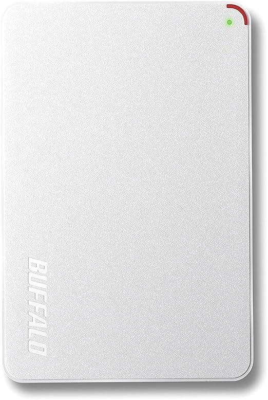 BUFFALO ミニステーション ターボPC EX2対応 USB3.0ポータブルHDD 1.0TB ホワイト HD-PCF1.0U3-BWD