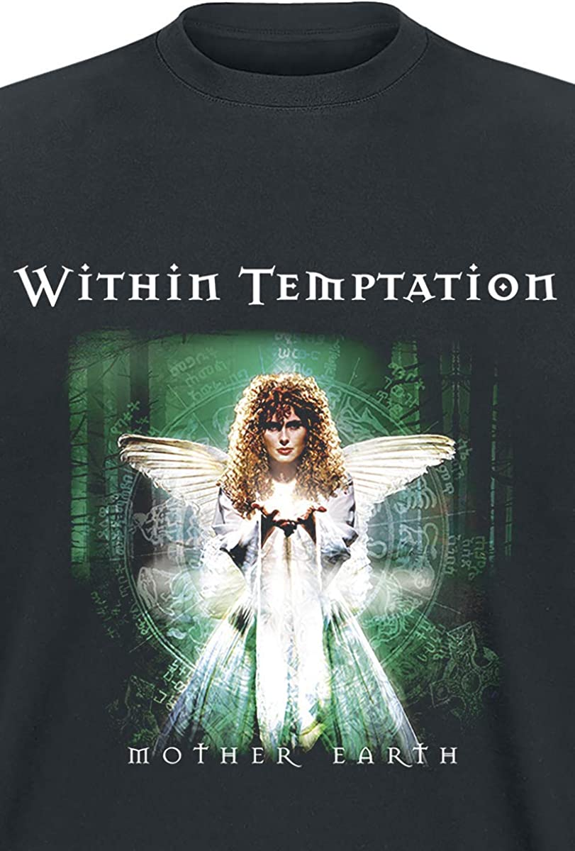 Within Temptation T Shirt Mother Earth Band Logo new Official Mens Black