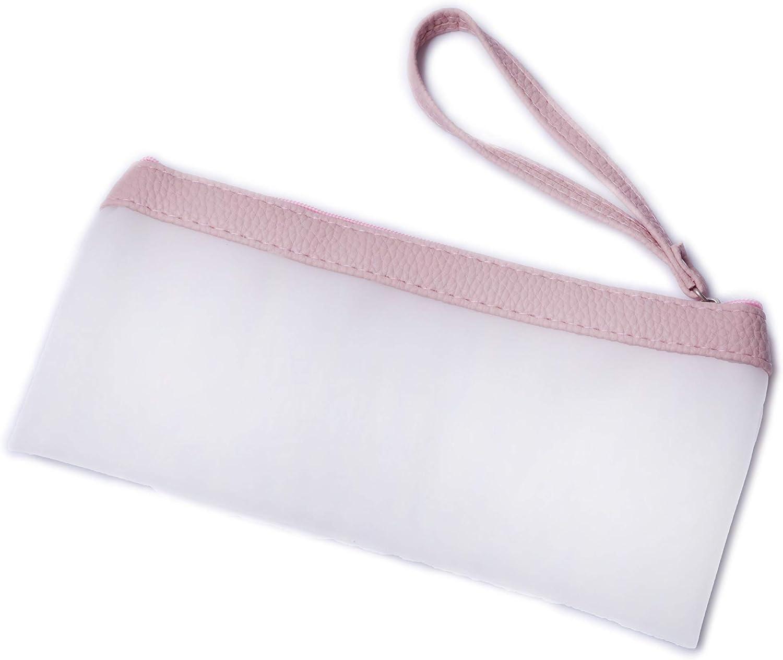 Estuche holográfico con borlas para lápices, bolsa de papelería, bolsa de papelería con cremallera holográfica transparente, cajas de almacenamiento de suministros escolares de WENTO: Amazon.es: Oficina y papelería
