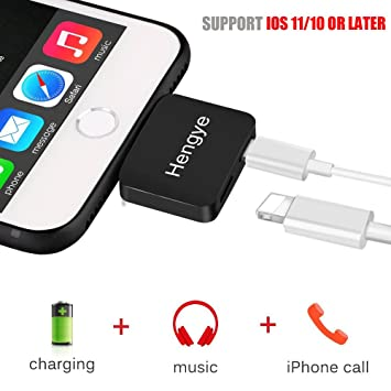 online retailer 2803f 29774 iPhone 7 8 X Plus Adapter Dual Lightning Charge and Headphone Jack Audio  Apple Earphone Splitter