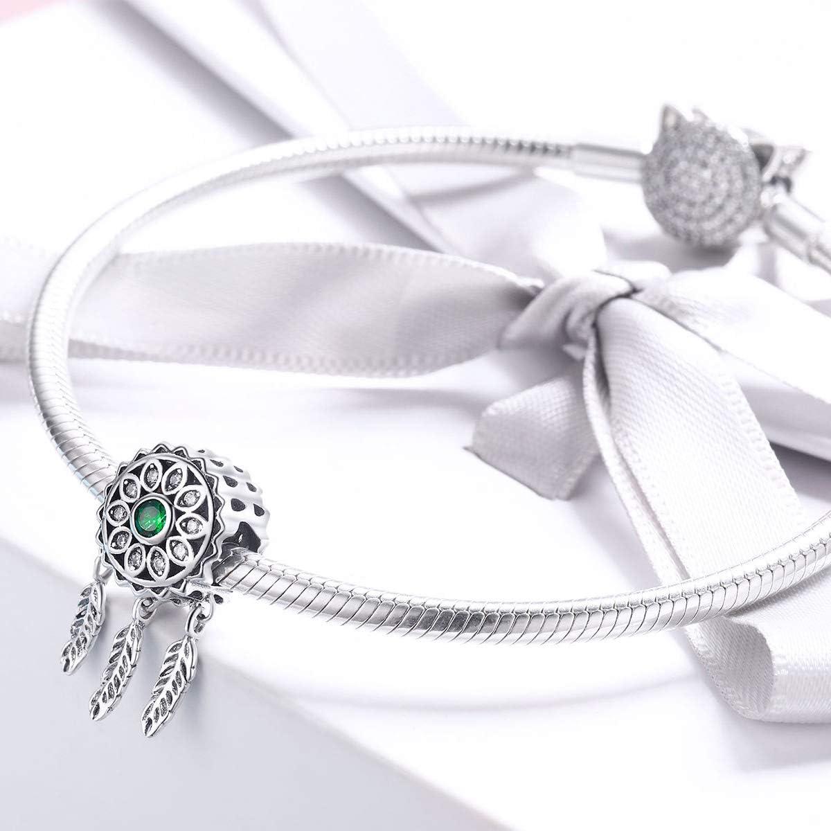 The Kiss Vintage Dream Catcher CZ 925 Sterling Silver Bead Fits European Charm Bracelet