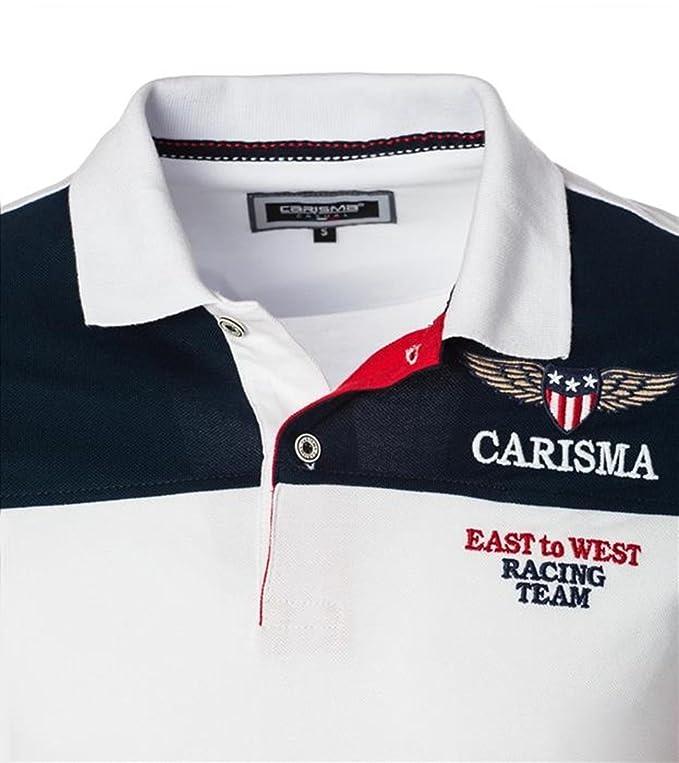 CARISMA Designer Polo Shirt 3 Farbkombis CRM4539 mit