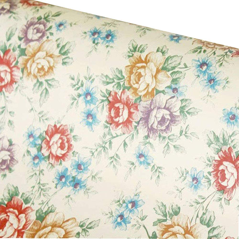 Amazon Com Self Adhesive Vintage Floral Pattern Contact Paper