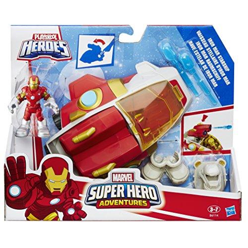 (PLAYSKOOL HEROES B6114EL3 Marvel Super Hero Adventures Iron Man Starship Figure)