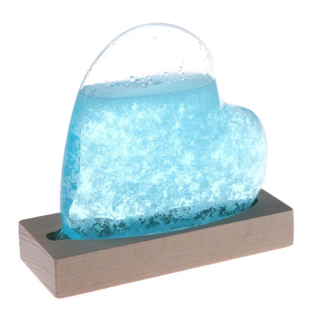 Homyl Strom Galss Crystal Weather Predicting Crystal Desktop Weather Bottle Predictor Forecaster Barometer Weather Glass DIY Decorative Bottles Crafts
