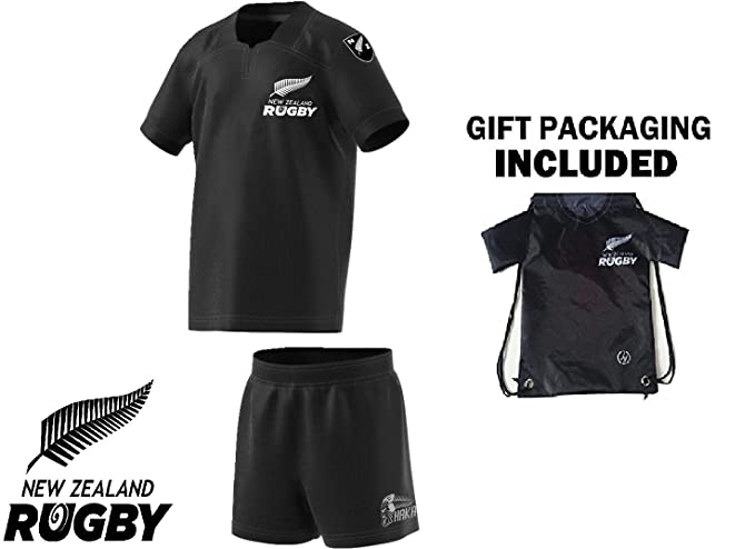 Fan Kitbag New Zealand Kids All Black Rugby Jersey Youth Home ✓ Short  Sleeve ✓ Bonus b56aff5819fa2