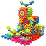 81 PCS Electric Building Blocks Set, Rotating Gear Electric Construction Brick Set Educational Toy for Kids Toddler