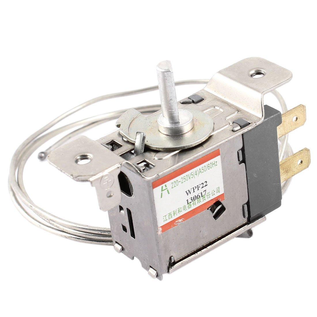 Ca 220 –  250 V 5 A Metal 2 pin nevera termostato de control de temperatura Sourcingmap SYNCE011739