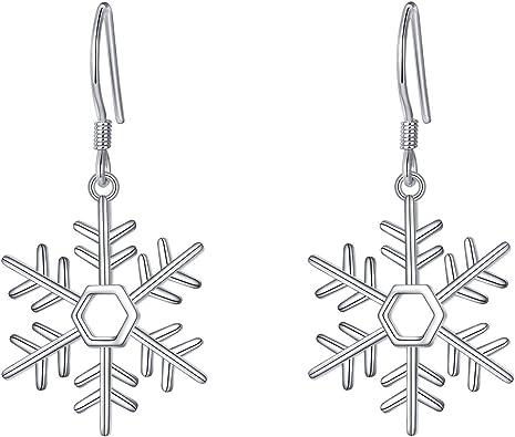 Snowflake 925 Sterling Silver Threader Earrings