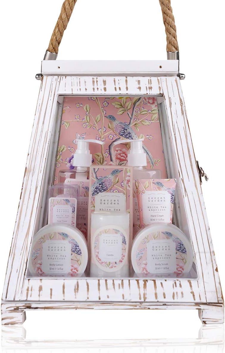 Accentra Secret Garden - Set de regalo para baño y ducha (aroma a albaricoque, 11 piezas)