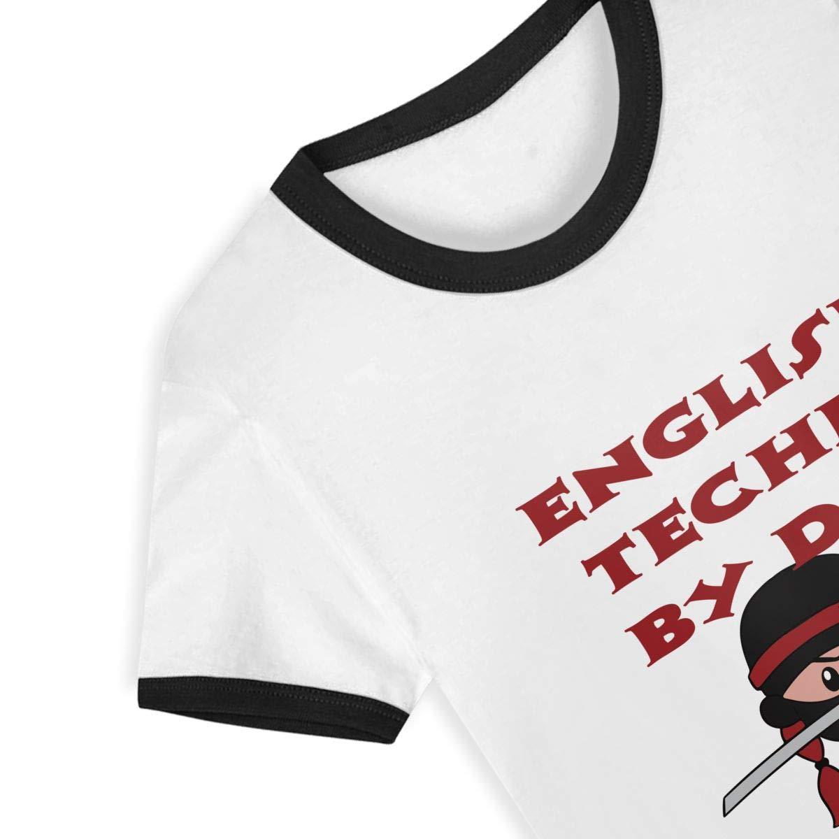 CY SHOP Mapping Tech by Day Ninja by Night Childrens Boys Girls Contrast Short Sleeve T-Shirt