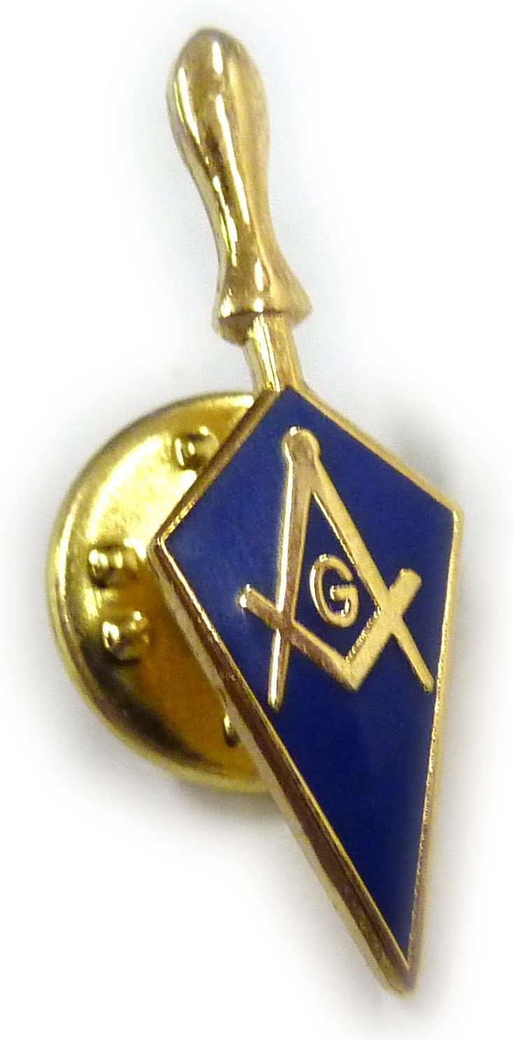 Trowel Masonic Freemason Tool Masonry Square Compass Lapel Pin