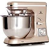 MURENKING Stand Mixer MK36 500W 5-Qt 6-Speed Tilt-Head Kitchen Food Mixer with Accessories (Champagne)