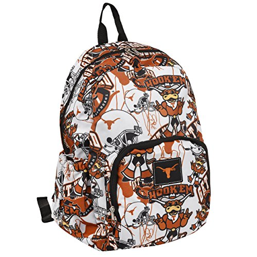 NCAA Texas Longhornsteam Patches Printed Backpack, Texas Longhorns, One Size (Soccer Longhorns Texas)