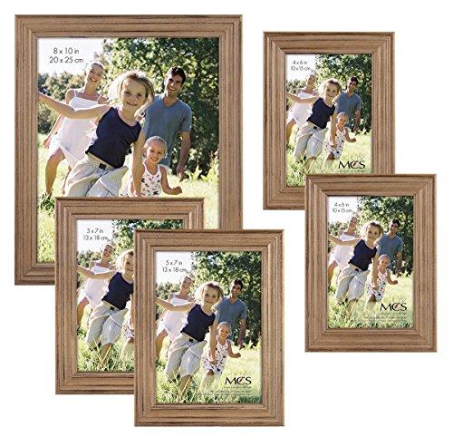 MCS 5pc Rustic Wood Frame Set