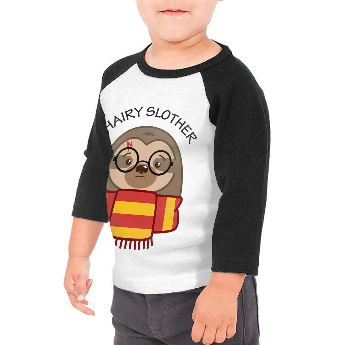 Manlee Hairy Slother Sloth Unisex 100/% Cotton Childrens 3//4 Sleeves T-Shirt Top Tees 2T~5//6T