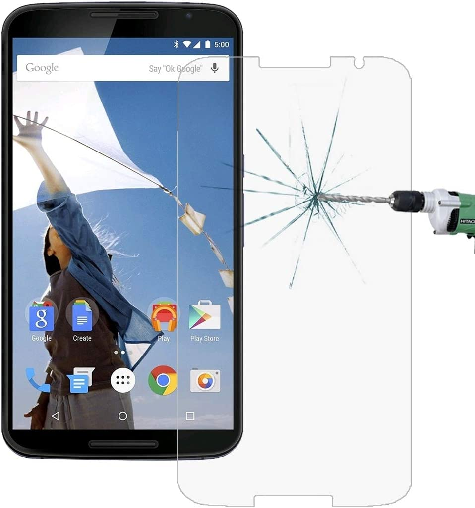 50 PCS for Google Nexus 6 0.26mm 9H Surface Hardness 2.5D Explosion-Proof Tempered Glass Film KANEED Tempered Glass Film No Retail Package