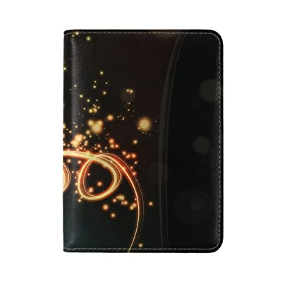 well-wreapped Circles Lines Background Bright Patterns Leather Passport Holder Cover Case Travel One Pocket