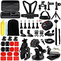 Iextreme Accessories for Gopro 5 4 3, Accessory Bundles with Chest Harness/Tripod for APEMAN DBPOWER AKASO VicTsing WiMiUS Rollei Sony Sports DV QUMOX Lightdow And Campark