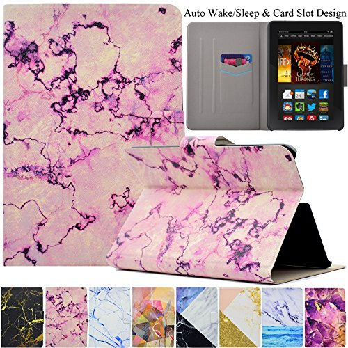 Kindle Fire HDX7 Case, Artyond Ultra Lightweight PU Leather Case Flip Stand Magnet [Auto Wake/Sleep Feature] Protect Slim Folio [Cards Slots] Smart Case for Amazon Kindle Fire HDX 7 2013 - Kindle 7 And Hdx Fire Cover Case