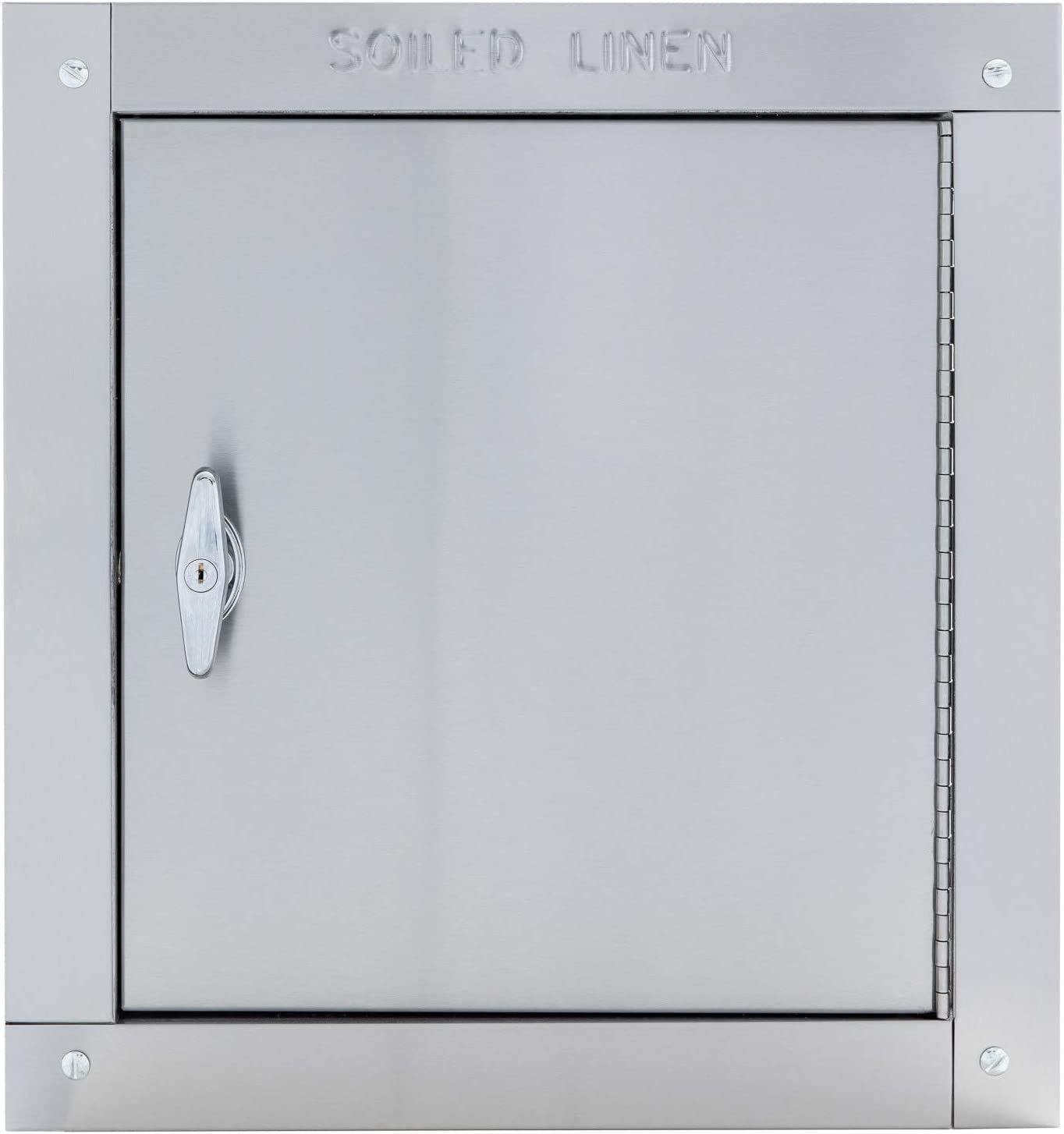 "Universal Stainless Steel Linen Chute Door - Noiseless Self Closing Side Hinged Fire Rated & UL Approved (18"" X 18"")"