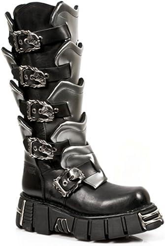 New Rock Boots Hommes Botte Style 738 S1 Noir