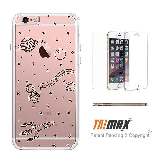best service 5a7aa c6862 365Printing Space Pattern Clear iPhone Case Transparent TPU Phonecase