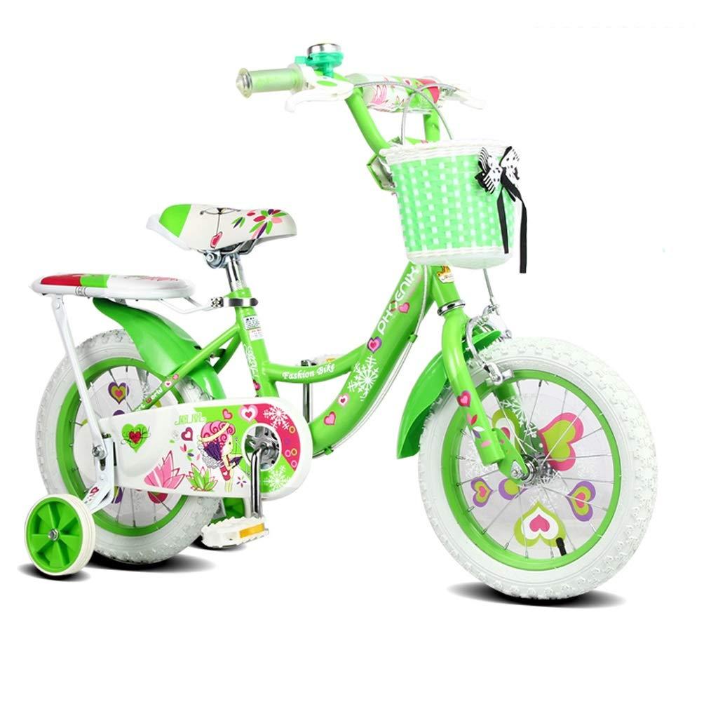 子供用自転車16/14/12インチガール自転車2-3-6-7歳子供用自転車 14in 1 B07QSTX91K