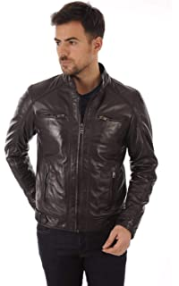 Travel Hide Mens Leather Jacket Motorcycle Genuine Lambskin Biker Jacket TM066