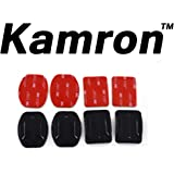 Kamron 2x Flat & 2x Curved Mounts with 3M adhesive pads For Go-Pro
