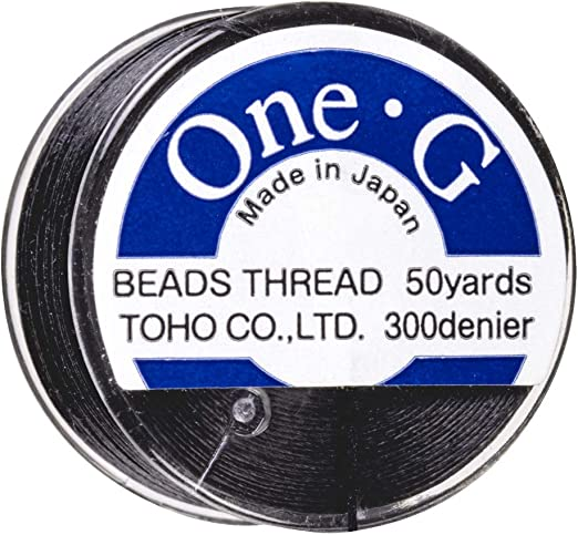 Toho Black One G fray Free Beading thread