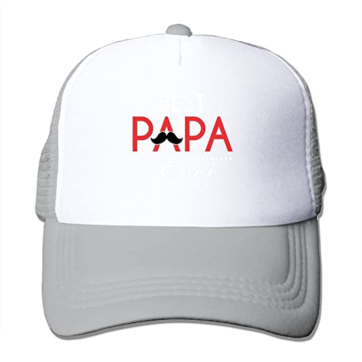 c2a2b18d56c Mesh Baseball Caps Best Papa Ever Adjustable Sports Trucker Cap Sun Hats  for Golf Cycling Running